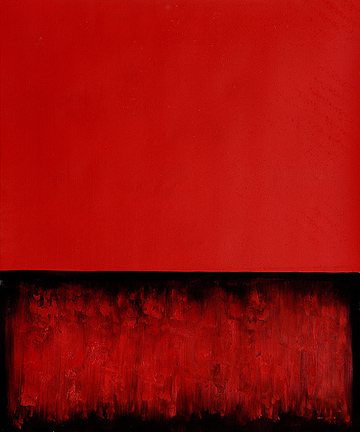 360 Untitled Red and Black Oil Painting by Mark Rothko