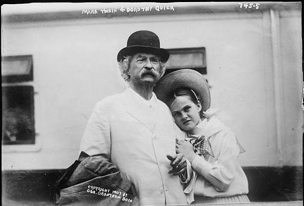 Mark Twain and his daughter